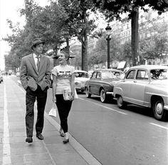 A Bout de Souffle/Champs Elysees - or Breathless starring Jean-Paul Belmondo and Jean Seberg by Jean-Luc Godard, 1959.