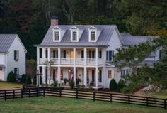 Farmhouse. Farmhouse. Farmhouse. Farmhouse. Farmhouse Farmhouse Porch #Farmhouse #porch #fence #FarmhouseExterior T-Olive Properties. David Cannon Photography