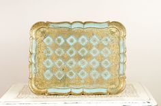 Vintage Florentine Tray  Italian Tray with by DuryeaPlaceDesigns, $50.00
