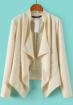 Shop Beige Long Sleeve Asymmetrical Loose Blazer online. Sheinside offers Beige Long Sleeve Asymmetrical Loose Blazer & more to fit your fashionable needs. Free Shipping Worldwide!