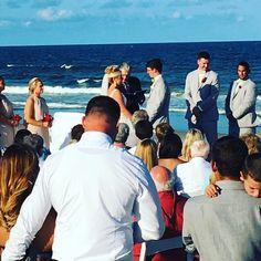 Another #beautiful weekend another #beach #wedding Congrats Nick and Ryan let the celebration begin!!! #djlife #weddingdj #yentertainment #jacksonville #bride #groom #wedding #couple #love #happy #nextchapter #duvalcounty #igersjax #florida #duval #gifts #sobeautiful #ameliaisland #beachwedding #pontevedra @yentertainmentdjs @davidhanscom @smileyfacephotobooth