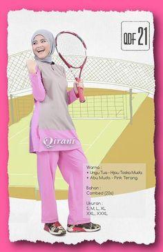 Baju Sport Qirani Fresh QDF 21 Abu Muda-Pink  Model :  QDF 21 Abu Muda-Pink  Baju Sport Qirani Fresh QDF 21 Abu Muda-Pink  HARGA QDF 21 :  RP. 260.000  (XXL , XXXL + Rp. 15.000)  Size : S, M, L, XL, XXL, XXXL  Warna :  Ungu Tua - HijauToska Muda  Abu Muda - Pink Terang  Bahan : Combed (20s)