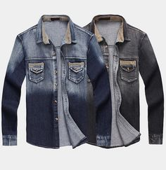 Gradient Wash Denim Jacket. Shop this look at Sneak Outfitters  http://www.sneakoutfitters.com/New-In/New-Contrast-Design-Men-Denim-Shirt-p3303.html