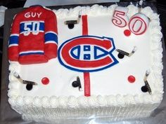 A birthday cake for a Montreal Canadians Fan.