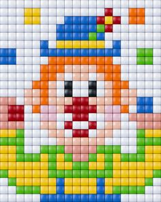Clown pattern - Pixelhobby / Pixelgift