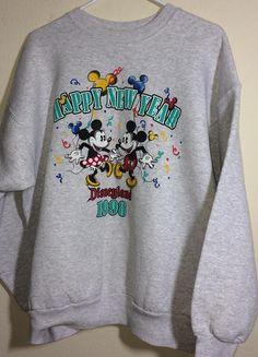 9570a571 Vintage Disney Mickey Mouse 1998 Sweatshirt Happy New Year Disney  Sweatshirts, Disney Tees, Vintage