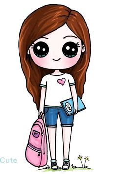 cute girl postavy cute drawings, kawaii and kawaii - cute girl cartoon sketch Kawaii Disney, Kawaii Anime, Arte Do Kawaii, Kawaii Art, Disney Disney, Disney Stuff, Cute Wolf Drawings, Kawaii Girl Drawings, Cute Girl Drawing