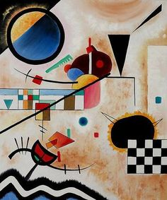 Oil Painting Contrasting Sounds by Wassily Kandinsky - Abstract ...