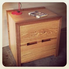 Recycled Australian hardwood bedside table. Custom made to customers details. For furniture made to your size/style, feel free to contact Michael on +61 3 9761 4337