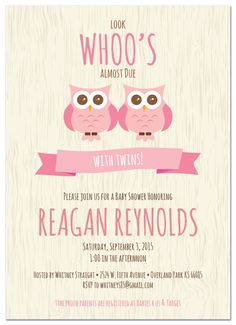 117 best twin baby shower images on pinterest twin baby showers twin owls baby shower invitation httppapersnapsparty filmwisefo