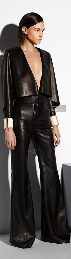 Balmain Resort 2015 Fashion Show – Leather Style I Love Fashion, Passion For Fashion, High Fashion, Fashion Show, Womens Fashion, Fashion Design, Fashion Rocks, Fashion 2018, Runway Fashion