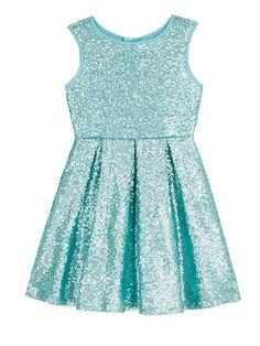 Girls Sequin Skater Dress