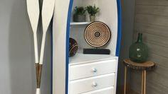 Partiendo de una cajonera vamos a crear una cómoda con forma de barca. Un mueble original que le dará un toque personal a la decoración de nuestro hogar.
