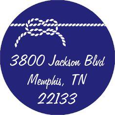 Nautical Knot Round Address Labels