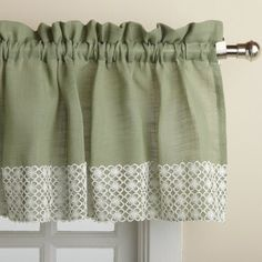 Sweet Home Collection Salem Kitchen 60 Curtain Valance Tier Curtains, Valance Curtains, Country Style Curtains, Valance Window Treatments, Window Valances, Sweet Home Collection, Kitchen Valances, Primitive Kitchen, Colorful Curtains
