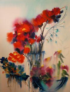 Wet on wet watercolors
