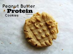 Clean Eating Peanut Butter Protein Cookies