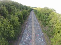 Centralia PA - graffiti highway. Courtesy Michael Cangiarella, via drone.