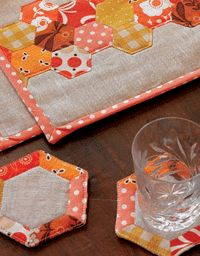 Hand Stitching Techniques Pattern: Hexagon Place Mats and Coasters