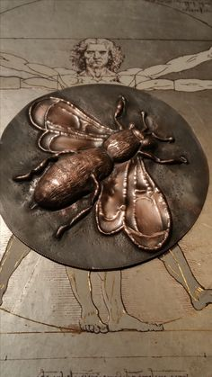 Repousse Bee in copper. Darpinian made.