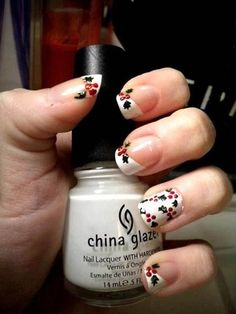 A manicure is a cosmetic elegance therapy for the finger nails and hands. A manicure could deal with just the hands, just the nails, or Fancy Nails, Cute Nails, Pretty Nails, Gorgeous Nails, Christmas Manicure, Xmas Nails, Christmas Nail Art Designs, Holiday Nail Art, Easy Christmas Nail Art