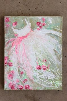 original tutu roses ballerina ballet dress green pink by fadedwest, $25.00 don't know why but like this