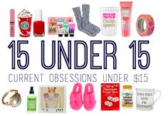 15 UNDER 15: My current obsession under $15 on blessedbrunette