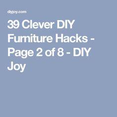 39 Clever DIY Furniture Hacks - Page 2 of 8 - DIY Joy