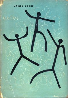 An Alvin Lustig dust jacket design.    Exiles by James Joyce.  New Directions, 1945.