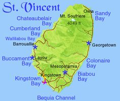 Map of St. Vincent and the Grenadines