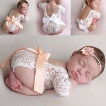 Buy 2019 Emmababy Newborn Lace Photo Clothing V-Back Romper Bow Hairband Set Two-piece Birthdays Photography Props New at www.babyliscious.com! Free shipping to 185 countries. 21 days money back guarantee. Baby Girl Photography, Birthday Photography, Clothing Photography, Photography Props, Baby Ballon, Baby Shooting, Bow Hairband, Flower Hair Band, Lace Outfit