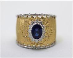 BUCCELLATI Ring!    Uggh I want this nooooww!     http://www.ebay.com/itm/BUCCELLATI-GOLD-RIGATO-RING-OVAL-CUT-BLUE-SAPPHIRES-1-10-CARATS-SIZE-6-5-/110763572324?pt=LH_DefaultDomain_0&hash=item19ca05fc64#ht_976wt_1079