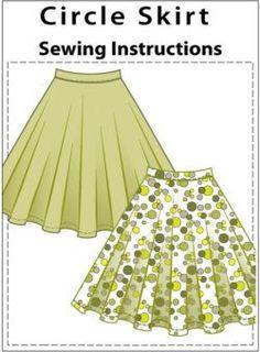 Sewing circle skirt. Tips and tricks.
