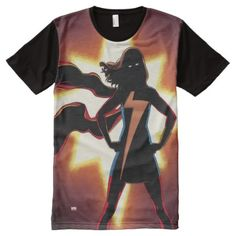 Marvel Comic All-Over-Print T-Shirt - click/tap to personalize and buy Ms Marvel, Marvel Comics, Stylish Shirts, S Shirt, Print Design, Mens Tops, How To Wear, Clothes, Outfits Fo