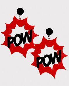Brinco Acrílico POW ~ Acessórios tendência com precinho baixo para kopiar os melhores looks ~ www.kopiei.com.br www.instagram.com/kopiei www.facebook.com/kopiei