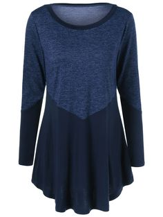 Patchwork Heather Long Sleeve T-Shirt - Purplish Blue - 2508646113 - Women's Clothing Fall Outfits, Cute Outfits, Clothing Sites, Women's Clothing, Sammy Dress, Refashion, Casual Tops, Clothes For Women, Long Sleeve