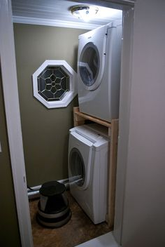 Just in case I decide I'd rather have some extra space and stack the laundry machines...that aren't made for stacking.