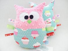 sowa przytulanka minky babeczki muffinki cupcakes owl http://sklep.tulibuzi.pl/index.php?id_category=22&controller=category