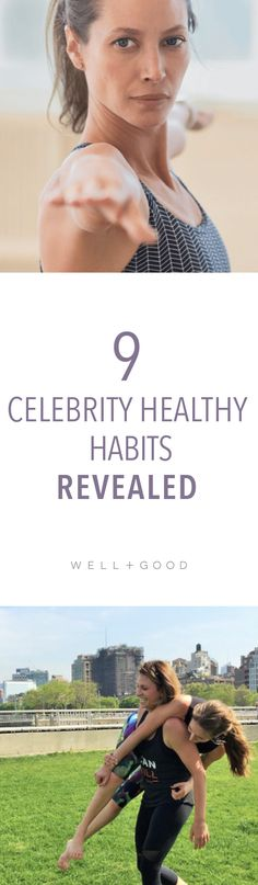 Celebrity healthy habits.