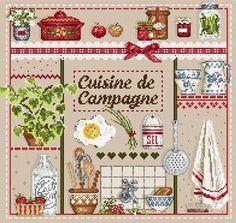 Madame la Fee, Cuisine de Campagne, схема для вышивания крестом, купить…