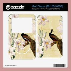 Beautiful Lilies Peacock Skin For Ipod Classic by joacreations