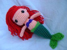 FREE SHIP  Ariel The Little Mermaid by CrochetforKiddos on Etsy, $29.75
