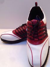 da311fec15a9ec A-Game Venom White   Red Mens Waterproof   Breathable Golf Shoes Size13  Games Today