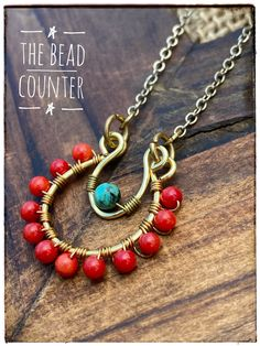 Red Coral Necklace Coral and Turquoise Beaded Necklace Wire Crochet Beaded Necklace, Beaded Jewelry, Beaded Necklaces, Resin Necklace, Mexican Jewelry, Southwestern Jewelry, Handmade Necklaces, Handmade Jewelry, Diy Jewelry