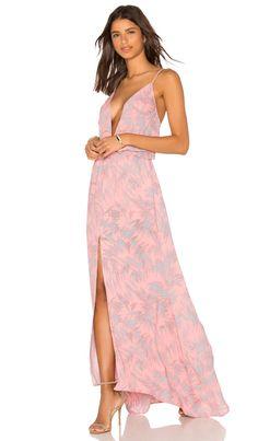 301dc639af0 Karina Grimaldi Malena Maxi Dress in Pink Fantasy