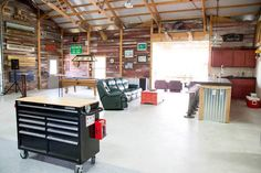 Building hobby barn garage w outdoor pavilion pictures metal building homes Garage House, Pole Barn Garage, Pole Barn Homes, Man Cave Garage, Man Cave Pole Barn, Car Garage, Metal Pole Barns, Metal Barn, Garage Shop