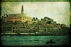 Port of Jaffa, Israel as seen from a Tel Aviv beach. by Laura Lee Burch Jaffa Israel, Tel Aviv Beach, Sewing Toys, Laura Lee, Imaginative Play, Textile Art, Needle Felting, Taj Mahal, Fairy Tales