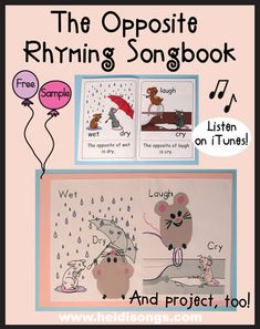 The Opposite Rhyming SongBook and Project by HeidiSongs