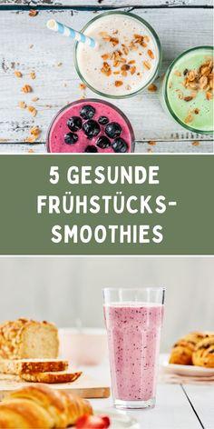 Ob mit Haferflocken oder Joghurt: Ein Smoothie eignet sich perfekt für den gesunden Start in den Tag! In unserem Blogbeitrag zeigen wir Dir fünf verschiedene Rezepte für gesunde Frühstücks-Smoothies. Von dem Kaffee-Bananen-Smoothie bis zum Joghurt-Himbeer-Smoothie ist alles dabei. :) Schaue gerne unter dem Link vorbei! #frühstückssmoothie #obstsmoothie #smoothierezept Breakfast, Smoothie Recipes, Healthy Breakfast Smoothies, Eat Clean Breakfast, Raspberries, Rolled Oats, Morning Coffee