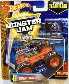 HOT WHEELS MONSTER JAM 2017 TEAM FLAG GRAVE DIGGER ORANGE EPIC EDITIONS #3/10